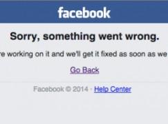 Facebook 又死機!?停頓逾句鐘