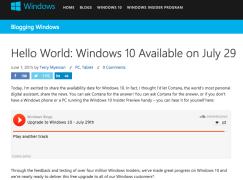 【升級有期】Windows 10 29/7 正式推出