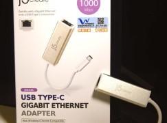 【活用USB Type-C】J5 create USB Type-C乙太網絡線接駁器