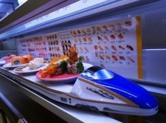 再別迴轉  元気引進高速列車自動送壽司