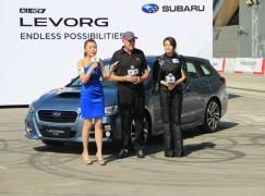 Subaru 新車發布會 重量級車手即席飄移