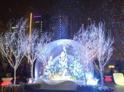 香港體驗戶外白色聖誕