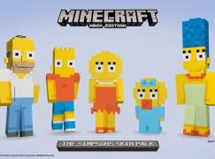 The Simpsons 下月登錄 XBox Minecraft