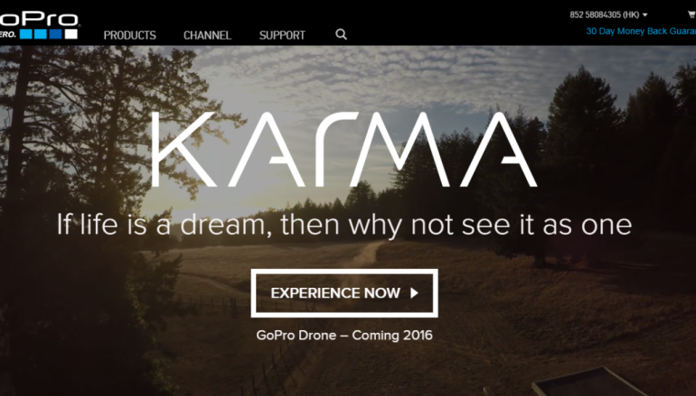 GoPro推航拍機「Karma」 2016年登場
