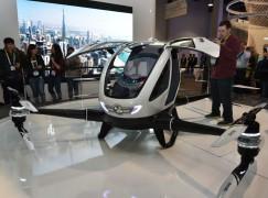 【有人機】中國製載人航拍機空降CES