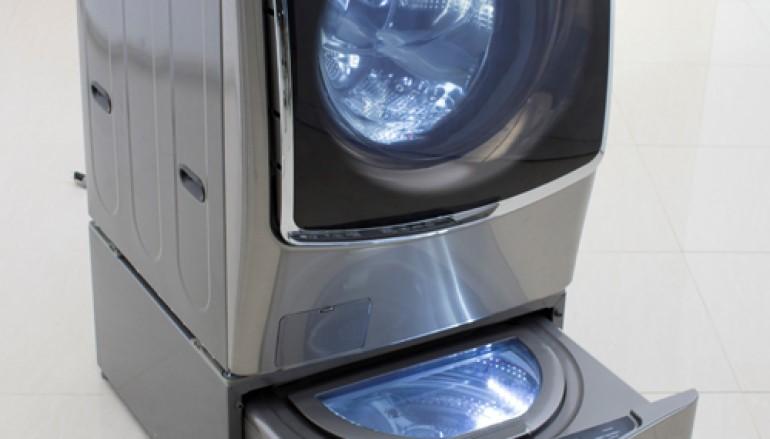【CES 2015】多衫洗唔切?LG:用多半部洗衣機囉!