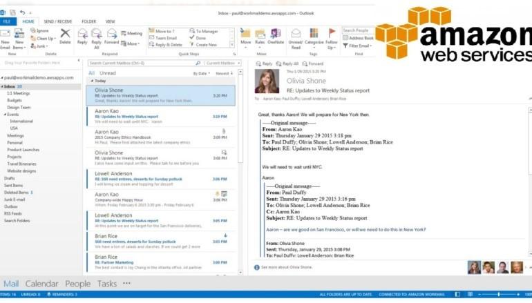 亞馬遜電郵WorkMail 明搶微軟、Google客