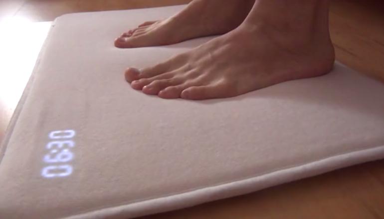 要你腳踏實地的地毯型鬧鐘
