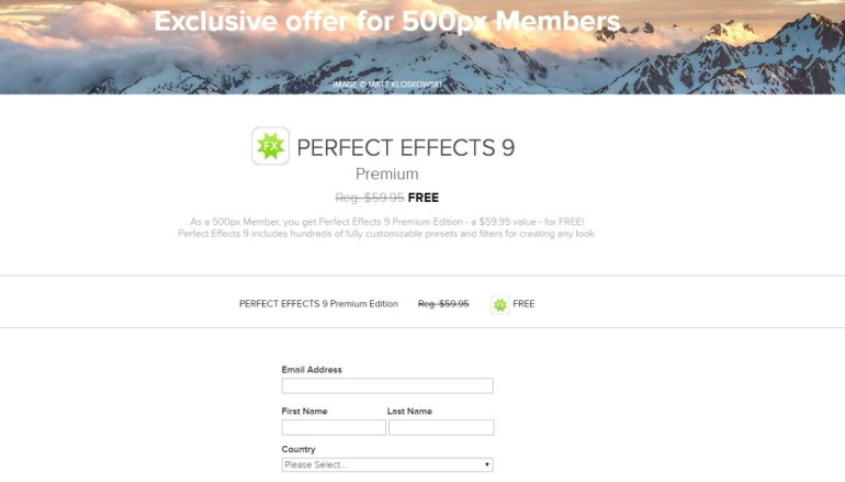 專業級相片後製軟件 Perfect Effects 9 限時免費