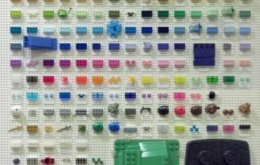 自製 182 隻 LEGO 色板排排砌