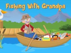 跟著爺爺去釣魚