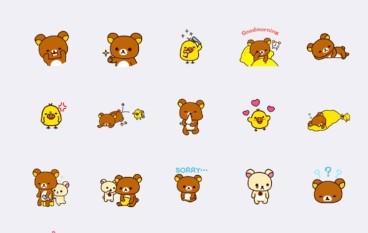 WeChat 新推鬆弛熊 Rilakkuma 免費動態貼圖