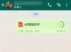 【實用流動辦公】WhatsApp 支援傳送 PDF