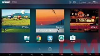 Android 系統的主介面,以多媒體內容佔上最多位置,下方則為預載App 的圖示,相當易上手。