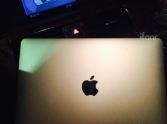 【諜照流出圖集】12 吋 MacBook Air 新蘋果 Logo 不再發光!?