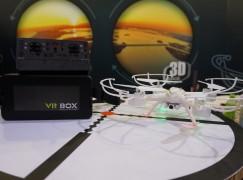 航拍機配 VR 眼鏡第一身駕駛速試
