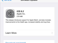 【Apple 發布會】iOS 8.2 有得下載