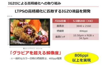 Sharp 發布 5.5 吋 4K IGZO