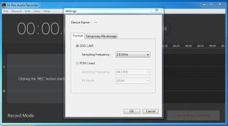可選擇DSD或PCM取樣。