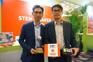 最佳資訊科技初創企業獎得主邁特思香港有限公司設計了一系列智能電子積木。