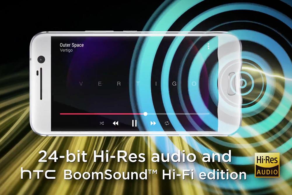 繼續有 BoomSound 雙喇叭,並有Hi-Res 認証。