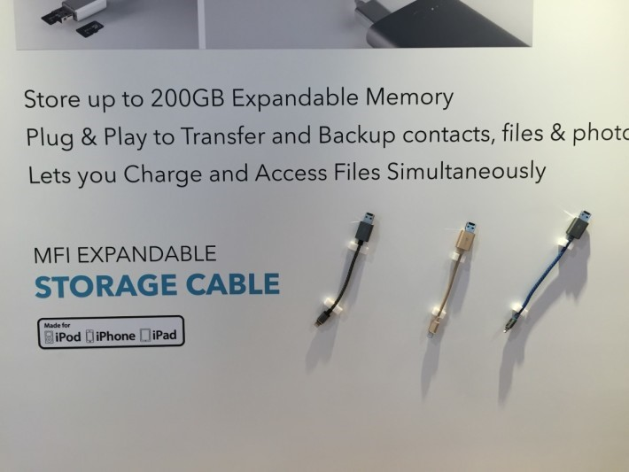 Energea Epandable Storage Cable 號稱支援 200GB microSD。