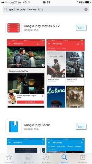然後用戶要先安裝《Google Play Movies & TV》程式