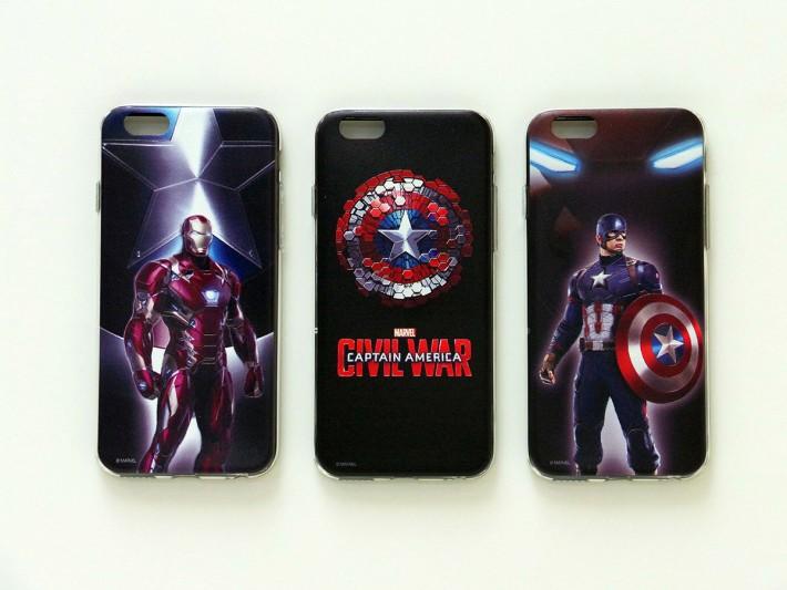 印有美國隊長同Iron Man,以及以美國隊長個盾牌去設計的Logo,仲要有凹凸感,同埋拎正版權,夠型格。