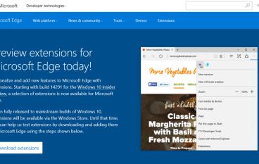 試用 Edge 專用 Extensions 強化瀏覽器功能