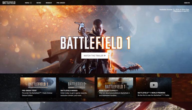 順應民意!Battlefield 新作!重返一戰黃金時代!
