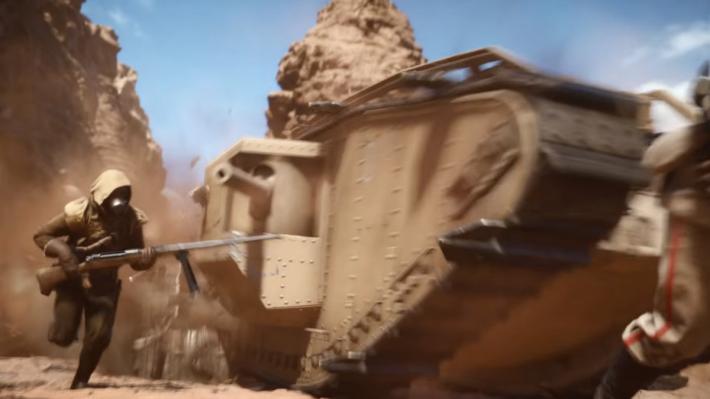 經典的 Mark 1 坦克登場,各位可以體驗步兵戰役的恐佈。