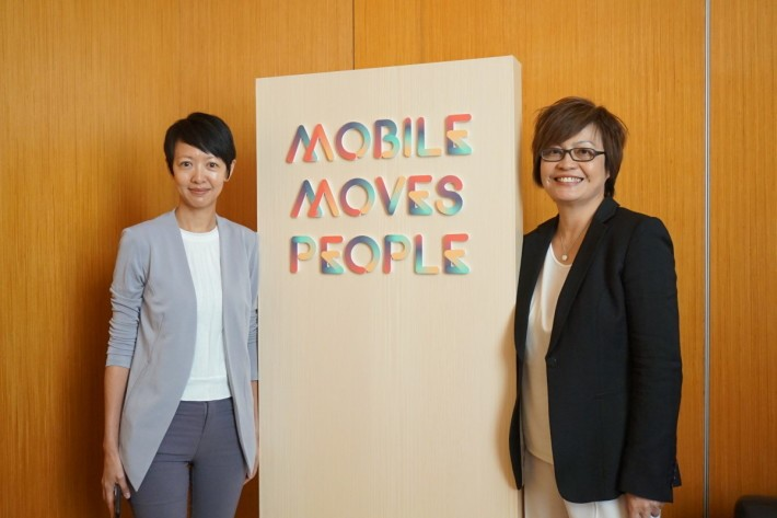 Facebook 大中華區總經理梁幼莓(左)及大中華區Head of Creative Shop倫潔瑩(右)。