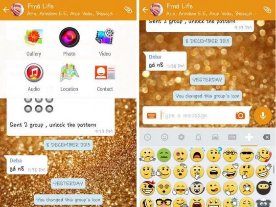 網上流傳升級 WhatsApp Gold 後加入新功能。