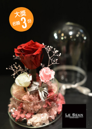 大獎:將切割圖片組成一張完整拼圖,將會得到 Le' Sean The Little Prince Preserved Flower 擺設一個,價值:HK$1,280(名額 3 名,送完即止。)