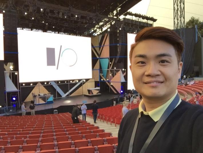 筆者第一次去Google I/O, 就咁啱係全戶外,實行曬黑 啲、健康啲!