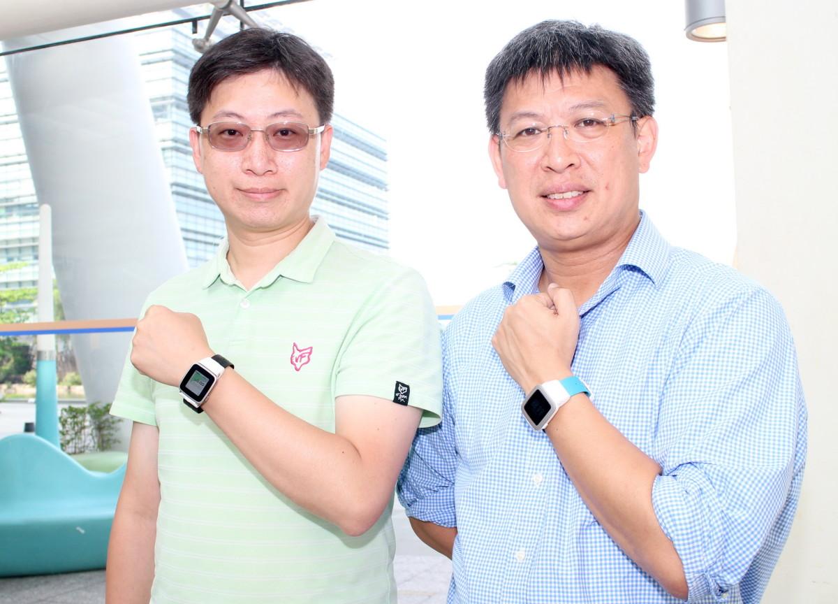 陳立峯(左)和楊文勇表示,目標要改革智能表帶,推出 Pal Strap只是第一步。