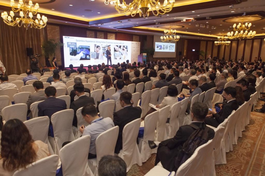 電訊盈科企業方案在本屆數碼論壇吸引了 600 多位業界人士到場參與。現場展示了針對行業的解決方案及成功案例。