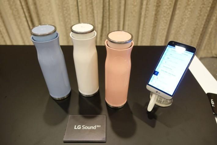 LG Sound360 則採用直立瓶身設計。