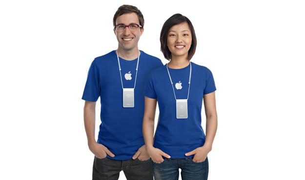 Apple Store 員工服飾簡單,容易被人魚目混珠。