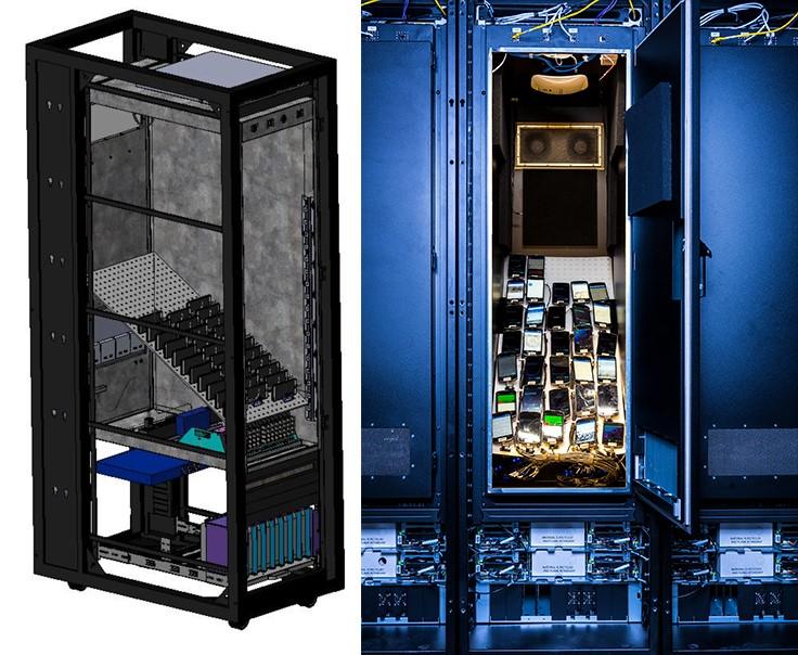 Facebook 現時所採用的手機測試機櫃