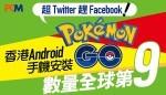 超 Twitter 趕 Facebook !香港 Android 手機安裝 Pokemon Go 數量全球第九