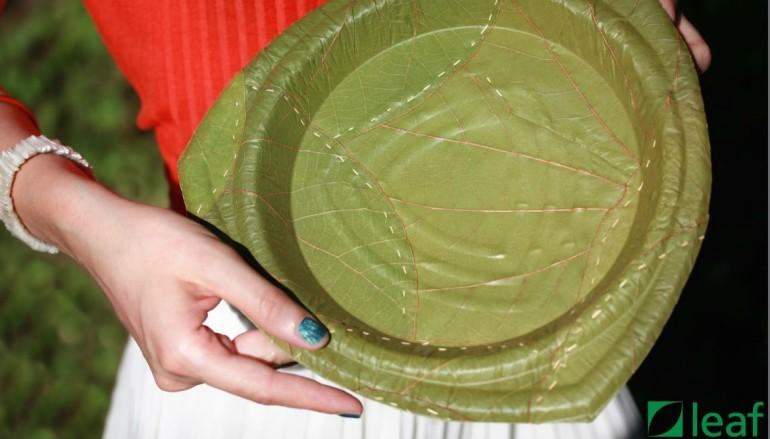 科技成就環保 樹葉餐碟 28 日自然分解