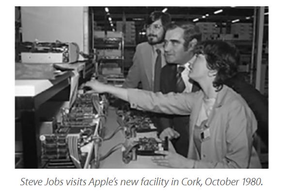 Steve Jobs 在 36 年前已到愛爾蘭設立據點