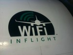 Alaska Airlines' WiFi Inflight logo on the side of their plane at LAX
