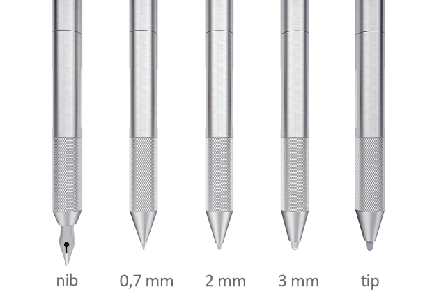 CRONZY Pen 提供 5 種筆頭