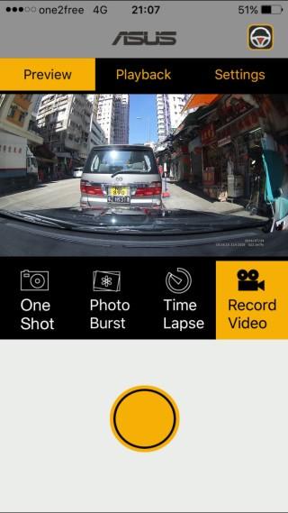 可透過手機控制車Cam拍攝及進行預覽功能。