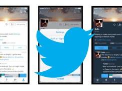 Twitter 連 iOS 都有夜晚模式啦~
