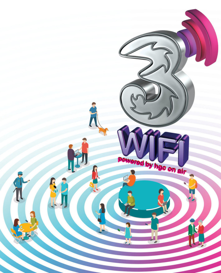 可使用全港逾20,000個、使用1G光纖寬頻為主幹的3香港Wi-Fi熱點,令大家的流動數據可更靈活運用。
