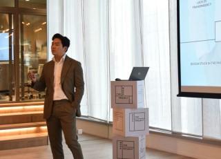 創辦人李政勳(Junny)向在場傳媒講解 The Work Project 的營運理念。