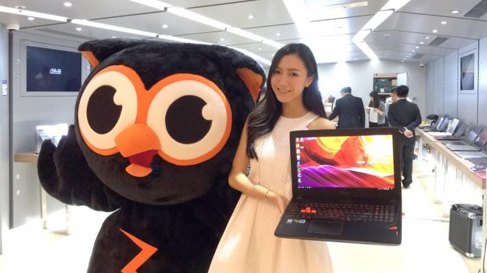 現場展出不同筆記型電腦及手機,當中亦不少得ROG系列產品。